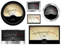 Ljudsignalmeter vektor illustrationer