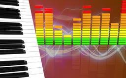ljudsignalspektrum för mellanrum 3d Arkivbilder