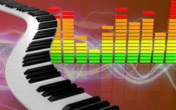 ljudsignalspektrum för mellanrum 3d Arkivfoto