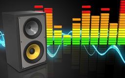 ljudsignalspektrum för mellanrum 3d Royaltyfria Bilder