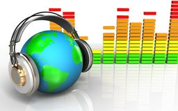 ljudsignalspektrum för mellanrum 3d Royaltyfria Foton