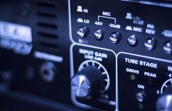 Ljudsignalstudio för solid inspelning fotografering för bildbyråer