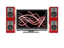 ljudsignalsystemtv vektor illustrationer