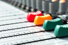 ljudsignalt blandaredelljud Fotografering för Bildbyråer