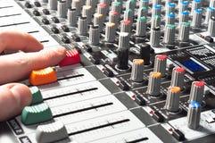 ljudsignalt blandareljud Fotografering för Bildbyråer