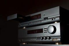 ljudsignalt högt system för fi Arkivfoton