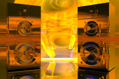 Ljudsignalt högtalareabstrakt begrepp Fotografering för Bildbyråer