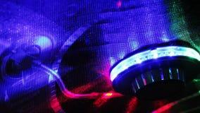 Ljudsignalt kontrollbordljus arkivfilmer