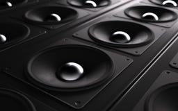ljudsignalt kraftigt system Arkivbild