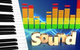 ljudsignalt ljudsignalspektrum för spektrum 3d Arkivbild