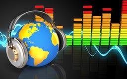 ljudsignalt ljudsignalspektrum för spektrum 3d Fotografering för Bildbyråer