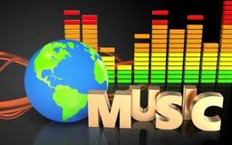 ljudsignalt ljudsignalspektrum för spektrum 3d Royaltyfri Bild