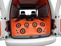 ljudsignalt musikströmsystem Arkivbilder