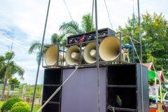 ljudsignalt svart system för hög ström Royaltyfri Foto