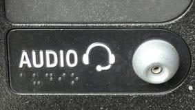 Ljudsignalt uttag Arkivfoton