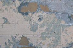 Ljus abstrakt bakgrund av tegelstenväggen med fläckar och lager av gammal målarfärg royaltyfria foton