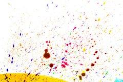 Ljus abstrakt målarfärgteckningsbakgrund med utrymme för textur för bästa sikt för färgstänk för text Fotografering för Bildbyråer