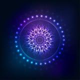 Ljus abstrakt mandalaillustration Royaltyfri Bild
