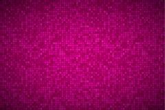 Ljus abstrakt mosaikmodell, tegelstentextur, rosa bakgrund Royaltyfri Foto