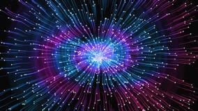 Ljus abstraktion - impulser i olika riktningar, distorsion av utrymme, univers, tolkning 3D royaltyfri illustrationer