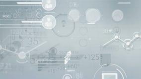 Ljus affärsbakgrund med abstrakta beståndsdelar av Infographics stock video