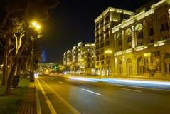 Ljus av Baku fotografering för bildbyråer