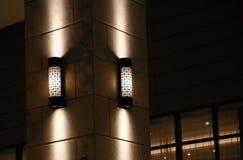Ljus av byggnaden Arkivfoton