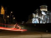 Ljus av den Bagrati domkyrkan fotografering för bildbyråer