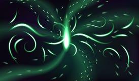 Ljus av den magiska portalen Abstrakt mörk glödande bakgrund Arkivbilder