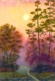 Ljus av morgonsolen Royaltyfria Bilder
