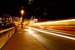 Ljus av natten Arkivbild