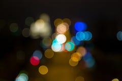 Ljus av staden på natten Royaltyfri Fotografi