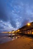 Ljus av strandpromenaden Royaltyfri Fotografi
