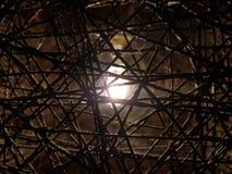 Ljus bak lampskärm Royaltyfri Fotografi
