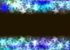 Ljus bakgrund av en spridning av stjärnor Fotografering för Bildbyråer