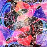 Ljus bakgrund för abstrakt vattenfärg med olikt färgrikt Royaltyfria Foton
