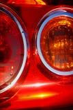 ljus baksida för bil Fotografering för Bildbyråer