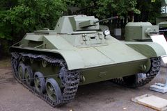 Ljus behållare T-60 USSR på jordning av vapenutställningen i Vict Royaltyfria Bilder