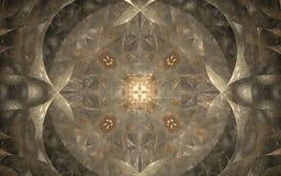 Ljus beige prydnad i medeltida stil Arkivfoto