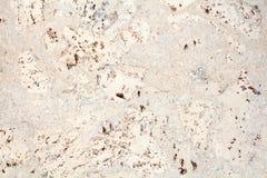 Ljus beige yttersida av bakgrunden för closeup för tegelplatta för trä den kork vit och brun fläckiga textur, arkivbild