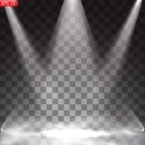 Ljus belysning med strålkastare vektor illustrationer