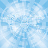 Ljus - blå abstrakt bakgrund med översikten och strålar Arkivfoton