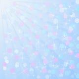 Ljus - blå bakgrund Royaltyfri Bild
