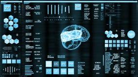 Ljus - blå futuristisk manöverenhet/Digital screen/HUD