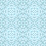 Ljus - blå geometrisk prydnad seamless modell royaltyfri illustrationer