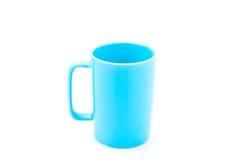 Ljus - blå kaffekopp Fotografering för Bildbyråer
