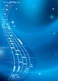 Ljus blå musikbakgrund med lutning royaltyfri illustrationer
