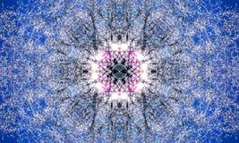 Ljus blå och vit mandalaillustration royaltyfri illustrationer