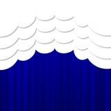 Ljus blå portiere royaltyfri illustrationer