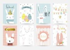 Ljus - blå samling för rosa färger för baner, reklamblad, plakat och pos. på sommar Royaltyfri Fotografi